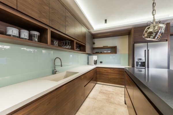 New kitchen in luxury home