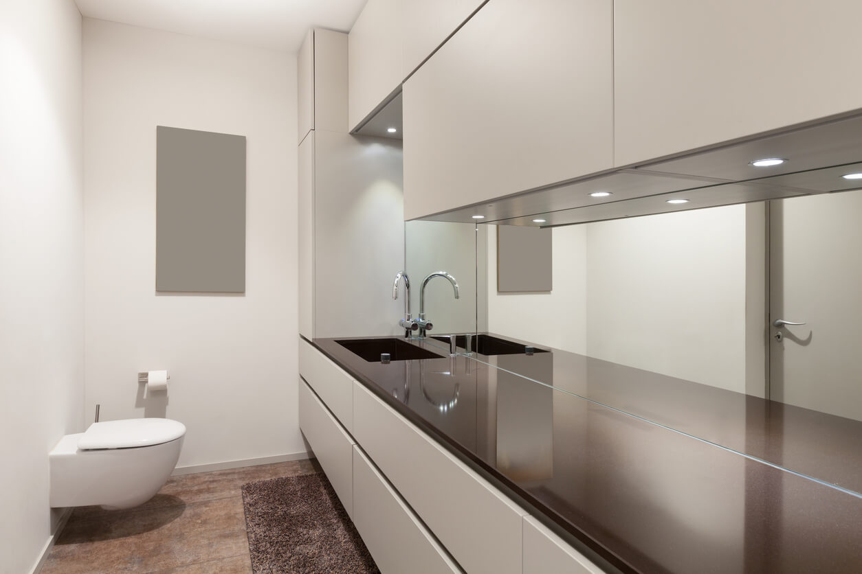 Interiors of new apartment, modern restroom